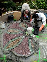 How To Build A Stone Patio by 98 Best Stone Spirals U20aa Images On Pinterest Pebble Art Pebble
