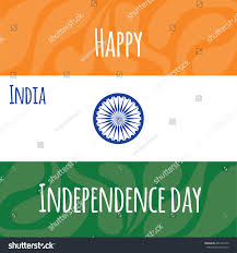 Independence Flag India Independence Day 15 August Flag Stock Vector 456125350