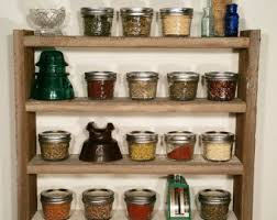 Spice Rack Including Spices Wood Spice Rack Etsy