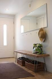 Benches For Entryways Steal This Look Diy Entryway With Hairpin Leg Bench Remodelista