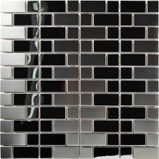 stainless steel mosaic tile backsplash steel tiles
