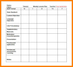 doc 580528 weekly lesson plan template word document u2013 sample