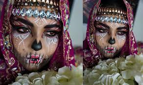 Sugar Skull Halloween Makeup Tutorial by Halloween Tutorial Tribal Sugar Skull Makeup Tutorial