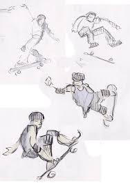 kyle kenworthy u0027s animation blog daily sketches skateboarding