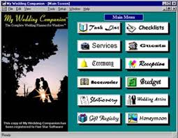 wedding planning software wedding planner software screen