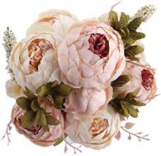 silk flowers for wedding duovlo flowers vintage artificial peony silk