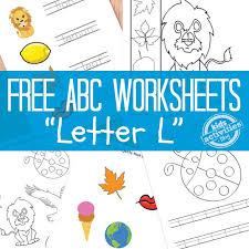 letter l worksheets for preschool worksheets