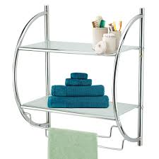 Bathroom Glass Shelves With Rail Innovative Chrome Glass Bathroom Shelf Modern Bathroom Shelf With