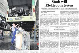 Baden Baden Linie Einsatz Von Elektro Gelenkbussen Auf Der Bbl Tallinie 201 Prüfen