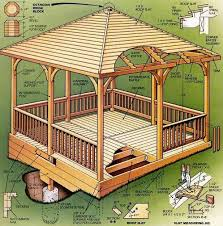 Backyard Pavilion Plans Ideas Best 25 Gazebo Plans Ideas On Pinterest Diy Gazebo Outdoor