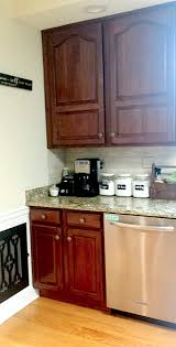 Painted Black Kitchen Cabinets Before And After Painted Kitchen Cabinets Makeover Before U0026 After At Home With