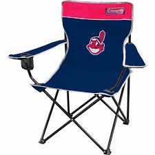 Coleman Reclining Camp Chair Coleman Mlb Cleveland Indians Quad Chair Walmart Com