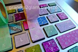 granola to glam diy colorful macbook washi tape keyboard tutorial