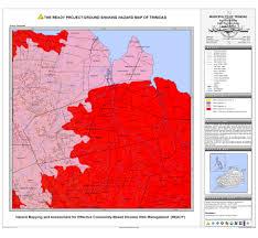 Map Of Trinidad Bohol Municipal Ground Shaking Hazard