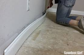 trim baseboard remove baseboard with the trim puller sawdust girl