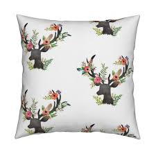 deer home decor floral deer wallpaper by shopcabin roostery home decor