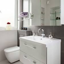 tile bathroom backsplash bathroom ideas with white wooden bath vanity attached on grey