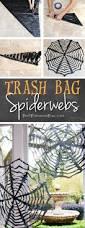 expensive halloween decorations diy trash bag spiderwebs cheap u0026 easy halloween decor