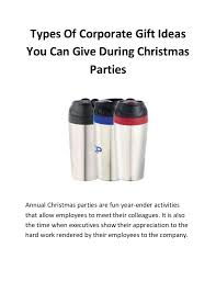 types of corporate gift ideas you can give during christmas parties