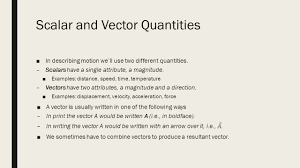 projectile motion chapter 3 scalar and vector quantities ppt