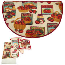 Fruit Kitchen Rugs Fruit Patch 3 Piece Printed Kitchen Rug Set Majesty Rugs Best Home