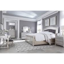 White Bedroom Furniture With Oak Tops Coralayne King Bedroom Group By Signature Design By Ashley