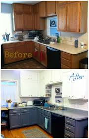 Kitchen Before And After by Kitchen Redo Countertop Covers Rustoleum Countertop And