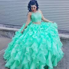 quinceanera dresses 2016 green two pieces quinceanera dresses 2016 lace top organza