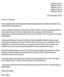 air hostess cover letter