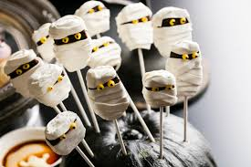 Halloween Mummy Cakes No Tricks All Treats At U0027spooktacular U0027 Halloween Dessert Buffet