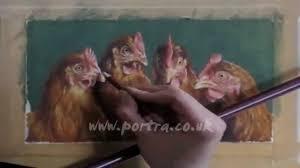 bentley orangutan speed painting hens in pastel youtube