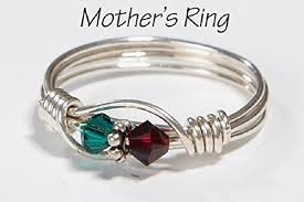 mothers rings 2 stones 2 s birthstone ring personalized sterling