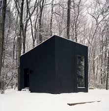Smith Built Shed by Minimalist Black Guest House By Studio Padron Keeps Upstate New