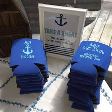 baby shower koozies nautical baby shower koozies baby shower favors ahoy it s a boy