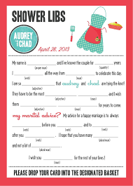 bridal mad libs mad libs bridal shower edition kitchen party 20 00 via etsy
