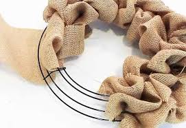 Home Decor With Burlap How To Make A Burlap Wreath Diy Joy
