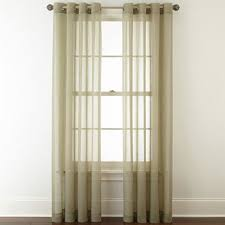 Semi Sheer Curtains Sheer Curtains Panels U0026 Window Sheers Jcpenney