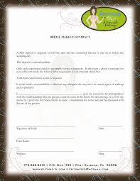 wedding contracts for makeup artists contract for discounts beyoutiful template