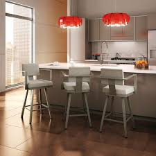 Kitchen Island With Barstools by Furniture Metal Modern Bar Stools With Back Also Pendant Lighting