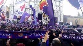 funeral fans newsflare thousands of fiorentina fans observe silence at astori