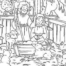 animals gather stable jesus born bible christmas