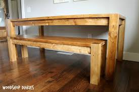 build a bench for dining table diy modern farmhouse dining bench