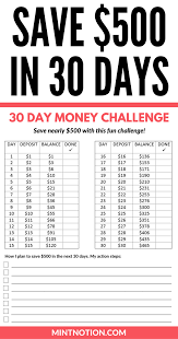 Challenge How To Money Challenge How To Save 500 In 30 Days Money Fast Free