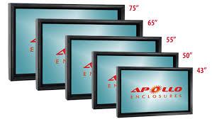 outdoor led lcd tv enclosures apollo enclosures