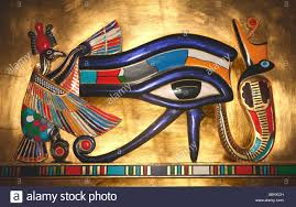 udjat the eye of horus the falcon god worshipped in ancient