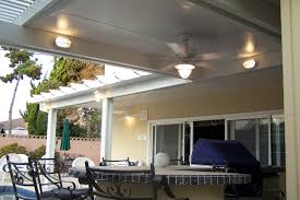 White Patio Lights by Decorating Cool Alumawood Patio Covers In White With Lights