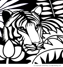 coloring pages of tigers tiger in the jungle awesome animals pinterest tigers