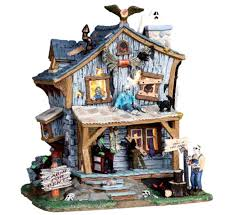 Lemax Halloween Houses by Amazon Com Lemax 05004 Haunted Cabin Spooky Town Halloween