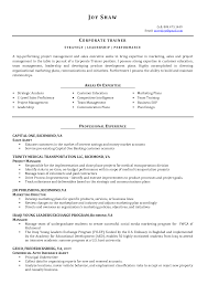 Sample Resume Format For Undergraduate Students by Sample Resume Corporate Training Manager