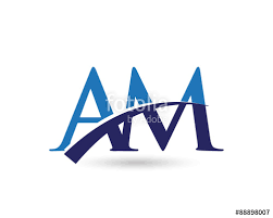 a m am logo letter swoosh stock image and royalty free vector files on